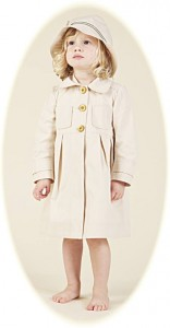 Girl's coat and hat from Hucklebones