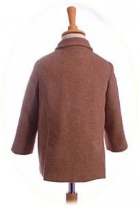 Little boy's short coat back view