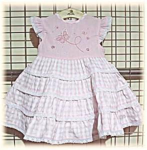 Baby's gingham dress