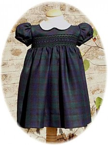 Baby's tartan dress