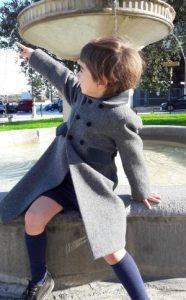 Child's classic wool winter coat