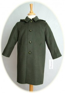 Child's green Loden coat