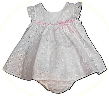 Baby's broderie anglaise dress