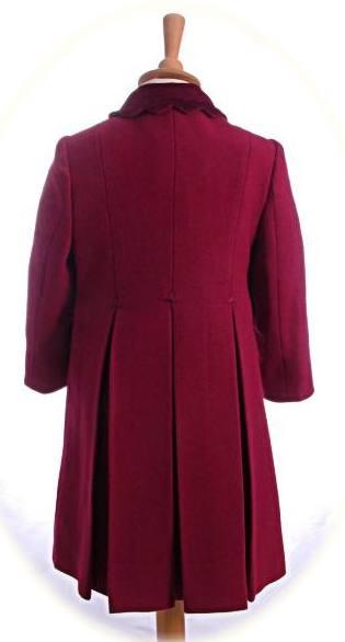 Girl's traditional winter coat back