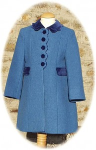 Girl's traditional winter coat