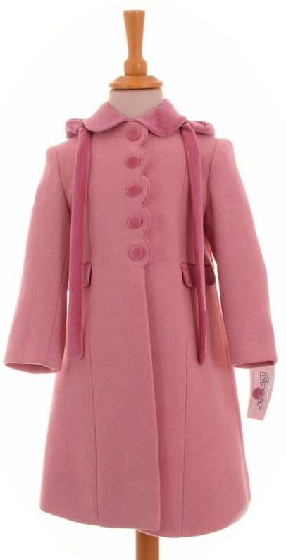 Ancar Girls Pink Wool Coat