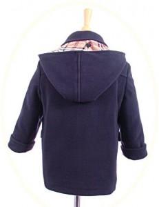Child's classic duffel coat back view