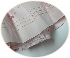 Baby girl's smocked summer dress skirt detail