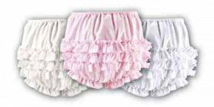 Baby's frilly knickers