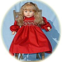 Little Girl's smocked winter dress