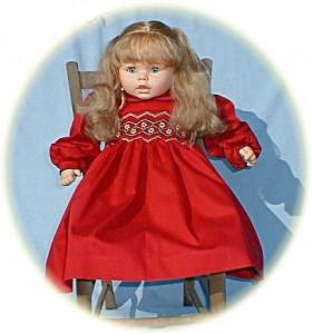Little Girl's smocked winter dress