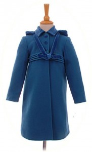 Girl's traditional coat in blue
