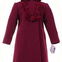 Little girl's winter coat with hood