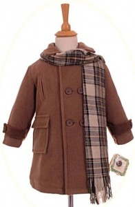 Boy's winter coat and scarf