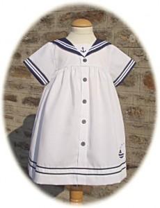 Baby girl's sailor dress