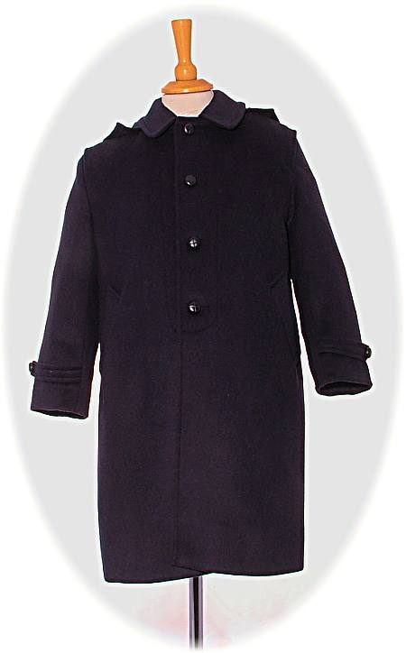 Child S Traditional Loden Coat With Detachable Hood Baby
