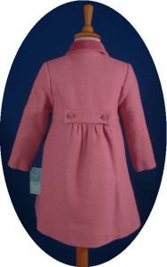 Child's classic coat back view