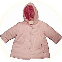 Baby girl's pink hooded coat