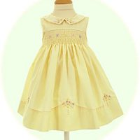 Hand smocked baby dress