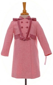 Little girl's pink coat with hood