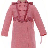 Little girl's pink coat with hood