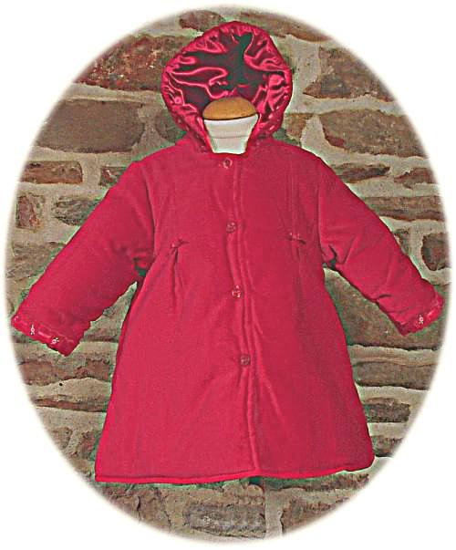 97ddf25f0 Baby s velvet coat with satin lining from Abella. Available in red ...