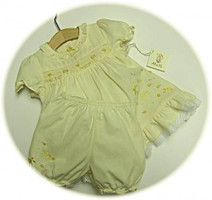 Baby's spring dress and bloomers