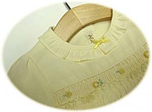 Baby's spring dress bodice detail