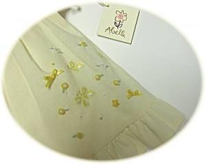 Baby's spring dress skirt detail