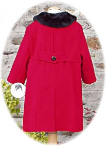 Girl's classic coat back view