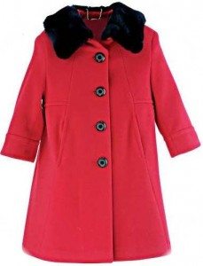 Girl's classic coat and hat
