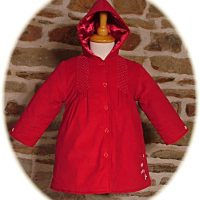 Baby's red hooded coat
