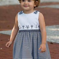 Little girl's hand smocked dress