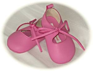 Baby girls' leather pram shoes