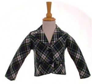 Little girl's tartan jacket